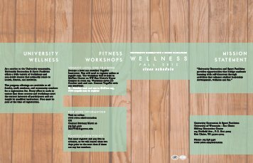 Fall Wellness Brochure 2012 Final - University of Wisconsin-Eau ...