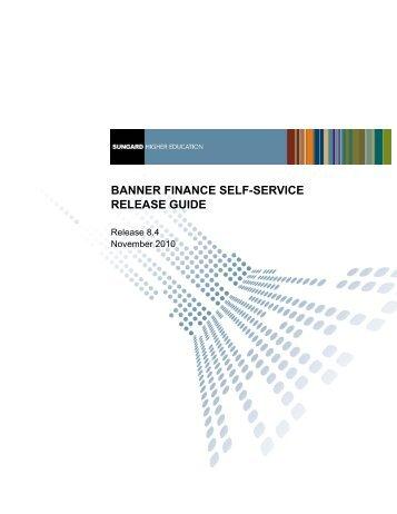 Banner Finance Self-Service / Release Guide / 8.4