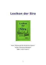 Lexikon der Sira - Way to Allah