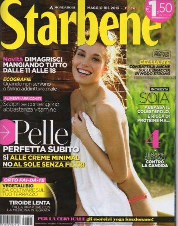 Articolo nella rivista italiana Starbene Maggio 2013 PDF 1,05 ... - MGM