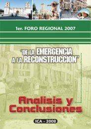 Conclusiones. Primer Foro Regional - Mesa de Concertación para ...
