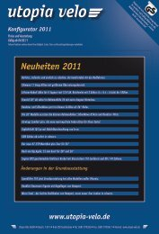 Neuheiten 2011 - Utopia velo gmbh