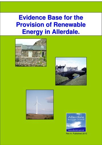 Evidence Base for the Provision of Renewable Energy in Allerdale.