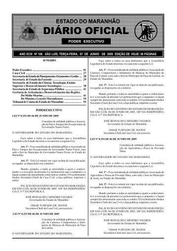 diário oficial - Tce.ma.gov.br