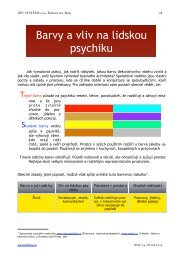 Barvy a lidská psychika III - Tollens