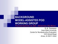 BACKGROUND MODEL-ASSISTED POD WORKING GROUP ...
