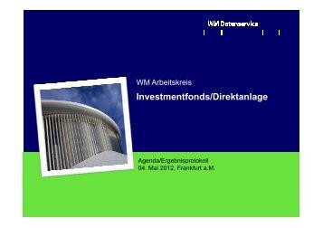 Arbeitskreis Investmentfonds
