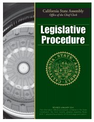 Legislative Procedure - California State Assembly Office of the Chief ...