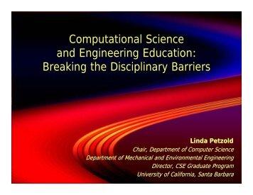 Linda Petzold, University of California, Santa Barbara
