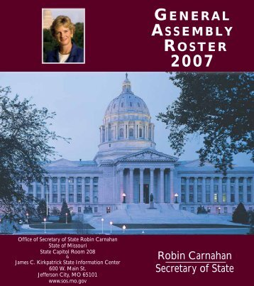2007 General Assembly Roster - Missouri Association of County ...