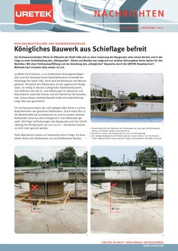 Königliches Bauwerk aus Schieflage befreit - URETEK