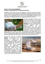 Summer in the City mit URBANARA Premium Textil-Kollektionen zur ...