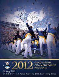 2012 Graduation Program - United States Air Force Academy