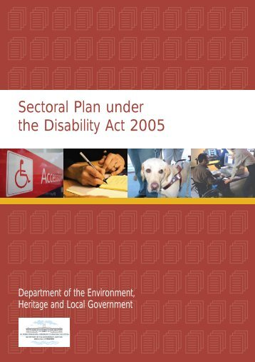 Sectoral Plan under the Disability Act 2005 - Department of ...