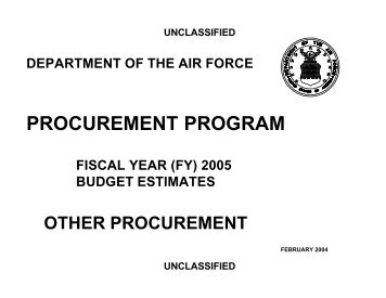 unclassified - Air Force Financial Management & Comptroller