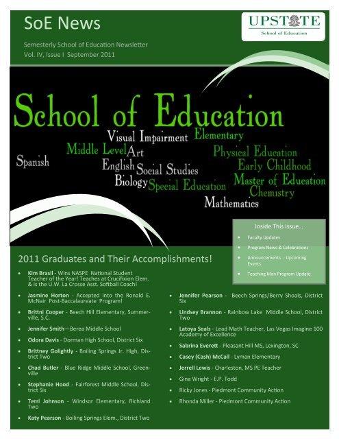 SoE News - University of South Carolina Upstate