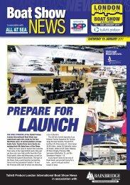 PREPARE FOR - London Boat Show