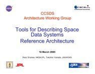 Tools for Describing Space Data Systems Reference Architecture