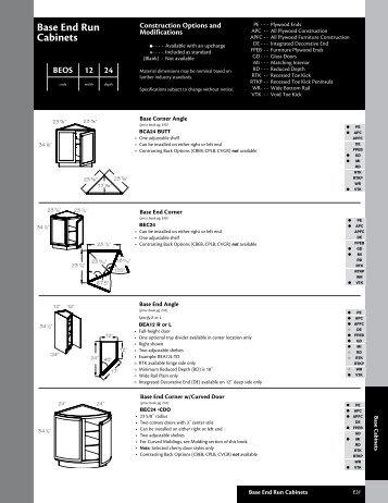 Base End Run Cabinets - Roberts Company, Inc.
