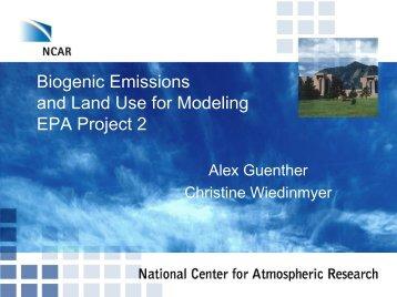 Biogenic emission and landuse change