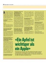 Ein Apfel ist wichtiger als ein Apple» David Bosshart - Philipp Löpfe