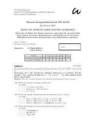 Klausur Komplexitätstheorie WS 02/03 20. Februar 2003