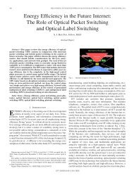 The Role of Optical Packet Switching and Optical ... - IEEE Xplore