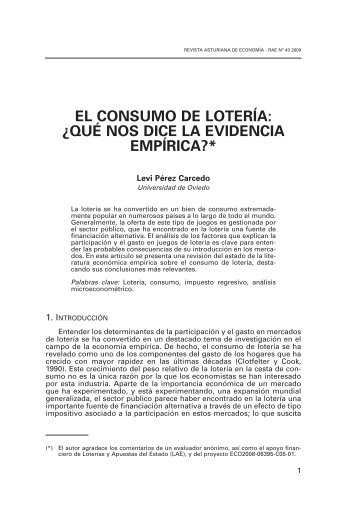 el consumo de lotería: ¿qué nos dice la evidencia empírica?