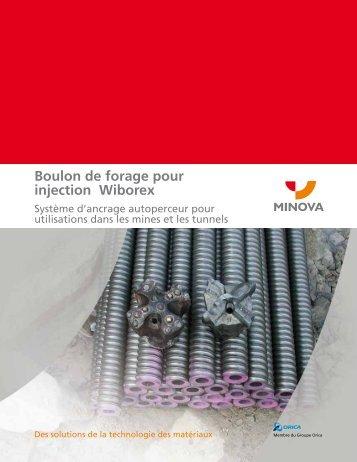 Boulon de forage pour injection Wiborex - Minova