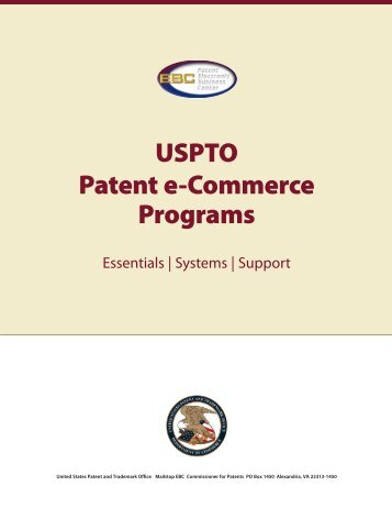 Patent e-Commerce Programs - U.S. Patent and Trademark Office