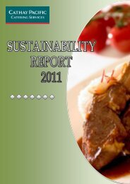 Sustainability Development Report 2011 - Cathay Pacific Catering ...