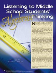 Listening to Middle School Students' Algebraic Thinking