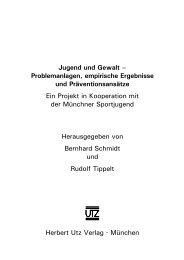 und Einleitung (181 KB) - Herbert Utz Verlag GmbH