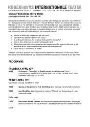 PROGRAMME THURSDAY APRIL 12TH FRIDAY ... - Gert balling