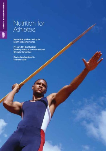 Nutrition for Athletes - Commonwealth Games Federation