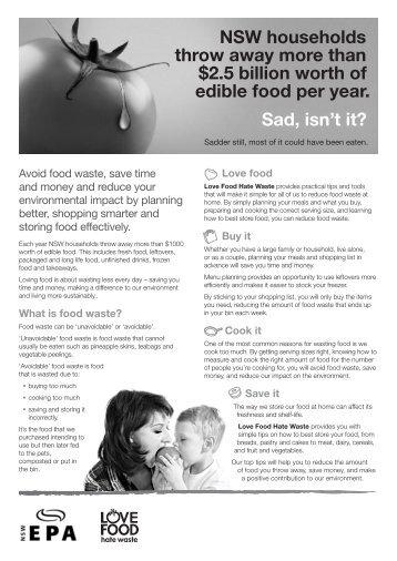 A4 Brochure (print) - Love Food Hate Waste