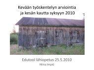 Kevään työskentelyn arviointia ja kesän kautta ... - Edutool-wiki
