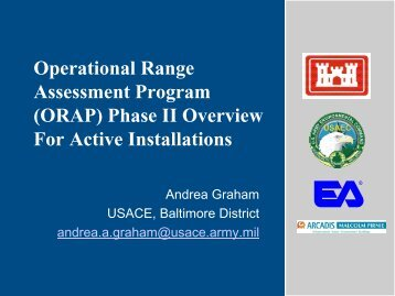 Operational Range Assessment Program (ORAP) Phase II ... - E2S2