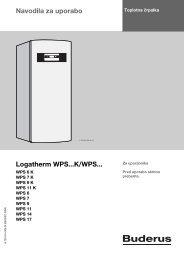 Navodila za uporabo Logatherm WPS...K/WPS... - Buderus