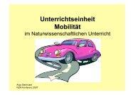 Unterricht zum Thema Mobilität - NUN