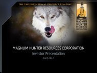 Magnum Hunter Resources, Corp. - LouisianaEnergyConference.com