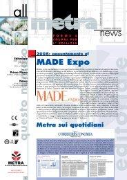 News Architetti N° 27.indd - Metra SpA