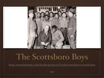 The Scottsboro Boys Trial