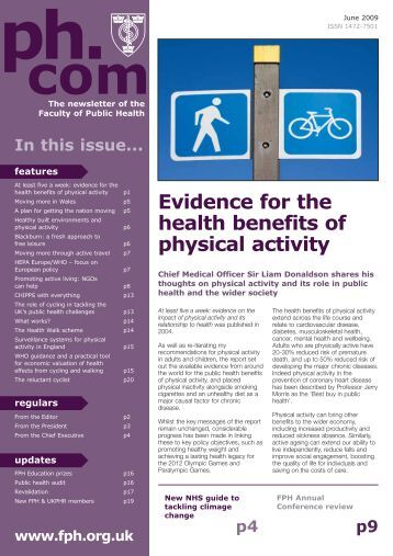 Evidence for the health benefits of physical activity - UK Faculty of ...