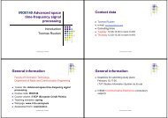 IRO0140 Advanced space time-frequency signal processing Contact ...