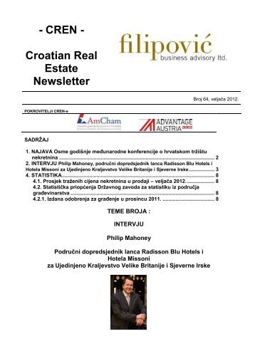 Croatian Real Estate Newsletter Vol 64 (PDF) - Filipović poslovno ...