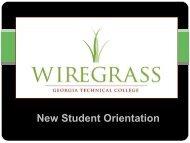 New Student Orientation - Wiregrass Georgia Technical College