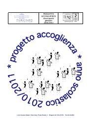 Progetto accoglienza 2010-2011 - Liceo Classico Statale