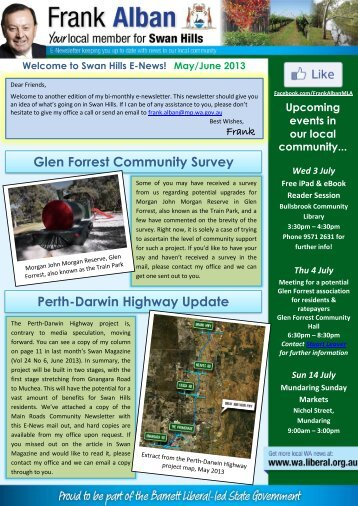 Swan Hills E-Newsletter (May/June 2013) - Liberal Party of Australia ...