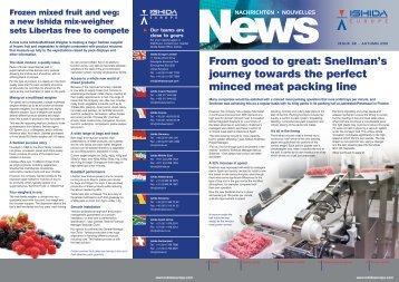 Autumn 2011 Newsletter EN - Ishida Europe